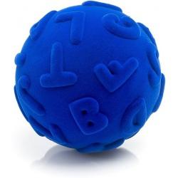 PIŁKA wielkie litery sensoryczna niebieska