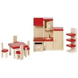 OUTLET - KUCHNIA drewniane mebelki do domku dla lalek