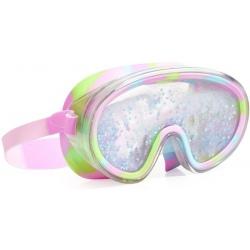 BŁĘKITNA maska do pływania z brokatem
