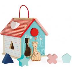 ŻYRAFKA SOPHIE domek drewniany sorter kształtów
