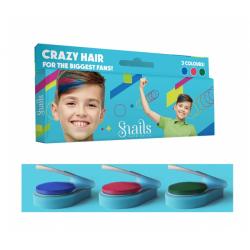 ZMYWALNE KREDY do włosów dla chłopców 3 kolory