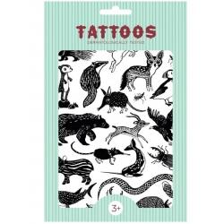ZWIERZĄTKA tatuaże zestaw
