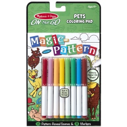 ZWIERZĄTKA DOMOWE kolorowanka z pisakami magiczne wzorki