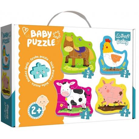 ZWIERZĄTKA tekturowe grube puzzle Baby Puzzle