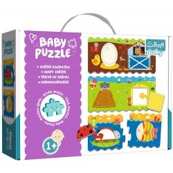 SORTER KSZTAŁTÓW tekturowe grube puzzle Baby Puzzle