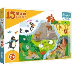 ZWIERZĄTKA I ICH DOMKI puzzle tekturowe maxi 15 el.