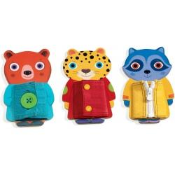 ZIPTOU drewniane zwierzaki zabawka manualna