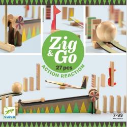 TOR KULKOWY drewniany zestaw kreatywny Zig&Go 27 el.