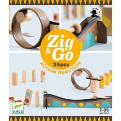 TOR KULKOWY drewniany zestaw kreatywny Zig&Go 25 el.