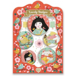JAPONIA przypinki zestaw 5 szt. Lovely Paper
