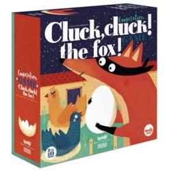 PUK, PUK, TU LISEK gra rodzinna planszowa Cluck, Cluck! Fox!