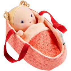 ANAIS lalka dzidziuś w koszyczku z ubrankiem i kocykiem