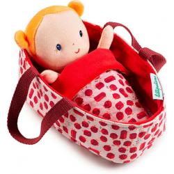 AGHATE lalka dzidziuś w koszyczku z ubrankiem i kocykiem