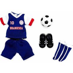 STRÓJ PIŁKARSKI ubranka dla lalki 18 cm Branksea United