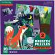 NOC I DZIEŃ W LESIE puzzle magnetyczne 2x20 el.