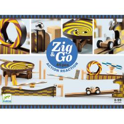 TOR KULKOWY drewniany zestaw kreatywny Zig&Go 45 el.