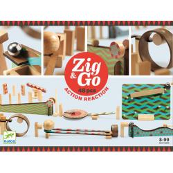 TOR KULKOWY drewniany zestaw kreatywny Zig&Go 48 el.