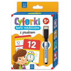 CYFRY zabawy edukacyjne z pisakiem zmazywakiem