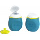 BABYSQUEEZ silikonowa butelka i pojemnik do przechowywania 2w1 180 ml blue