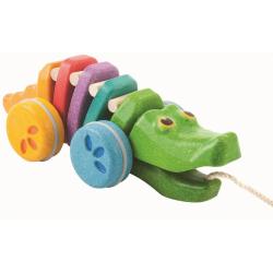 Tęczowy krokodyl do ciągnięcia
