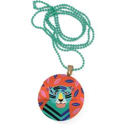 TYGRYS kolorowy naszyjnik medalion Lovely Paper