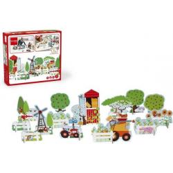 ŻYCIE NA FARMIE tekturowa układanka 3D 14 el. Mix&Play