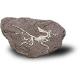 ARCHAEOPTERYX duży szkielet dinozaura wykopalisko na kamieniu