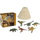 SPINOZAURUS figurka dinozaura wykopalisko z wulkanu