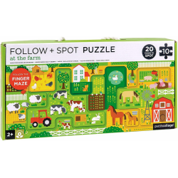 FARMA tekturowe puzzle z labiryntem 10 el.