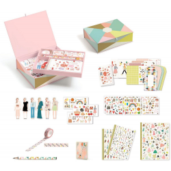TINOU kuferek z zestawem papierniczym Lovely Paper