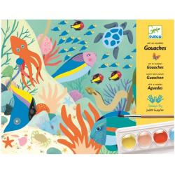 ŚWIAT NATURY zestaw artystyczny z farbkami