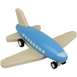 NIEBIESKI drewniany samolot