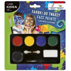 FARBKI do malowania twarzy zestaw 6 szt.