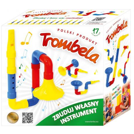 TROMBELA zestaw kreatywny zbuduj instrument 17 el.