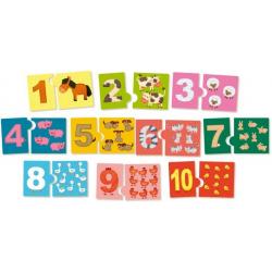 NAUKA LICZENIA drewniane puzzle 20 el.