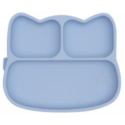 KOTEK talerzyk silikonowy z przyssawką Powder Blue