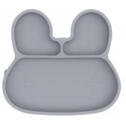 KRÓLICZEK talerzyk silikonowy z przyssawką Grey