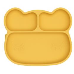 MIŚ talerzyk silikonowy z przyssawką Yellow