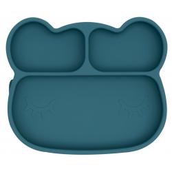 MIŚ talerzyk silikonowy z przyssawką Blue Dusk