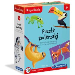 ZWIERZAKI puzzle tekturowe 22 el. UCZĘ SIĘ BAWIĄC