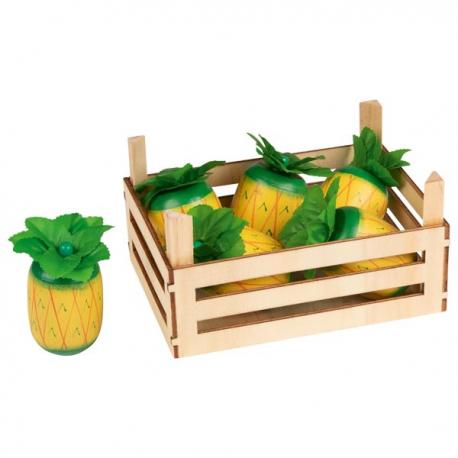 ANANAS drewniany owoc
