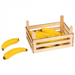 BANAN drewniany owoc