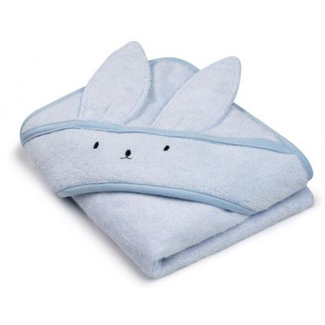 BABY BLUE bambusowy ręcznik z kapturem 85x85 cm