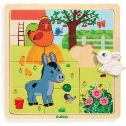 FARMA drewniane puzzle 15 el.