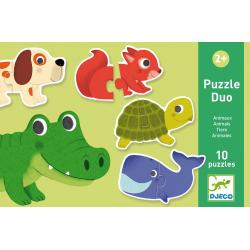 ZWIERZĄTKA puzzle tekturowe duo 20 el.