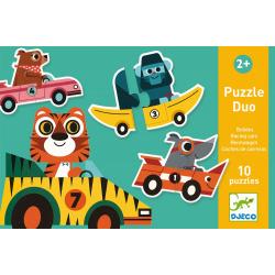WYŚCIGÓWKI puzzle tekturowe duo 20 el.