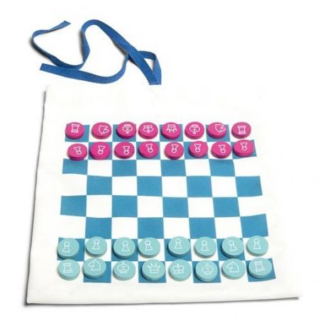 PODRÓŻNA GRA 3w1 szachy warcaby, kółko i krzyżyk