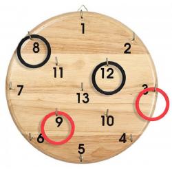 RZUT OBRĘCZĄ drewniana gra zręcznościowa