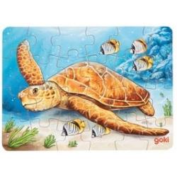 ŻÓŁWIK drewniane puzzle 24 el.