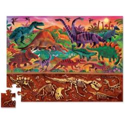 ŚWIAT DINOZAURÓW puzzle tekturowe 48 el. Powyżej i poniżej
